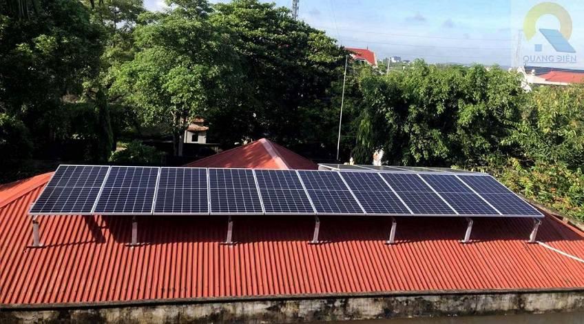 hoàn thành lắp đặt điện năng lượng mặt trời 6kw 1 pha tại hải phòng