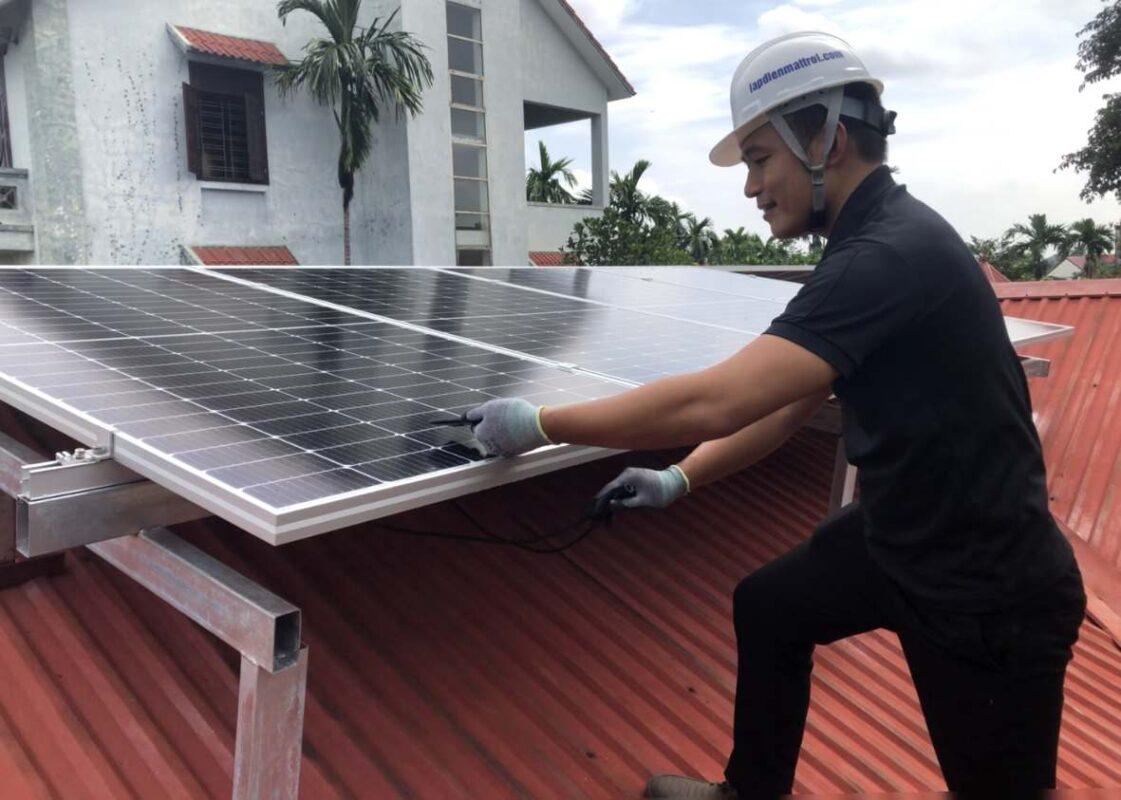 lắp điện mặt trời mái nhà tại hải phòng