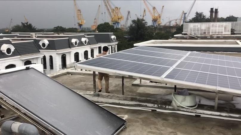 lắp điện mặt trời tại Hồng Bàng Hải Phòng kđt Vinhome