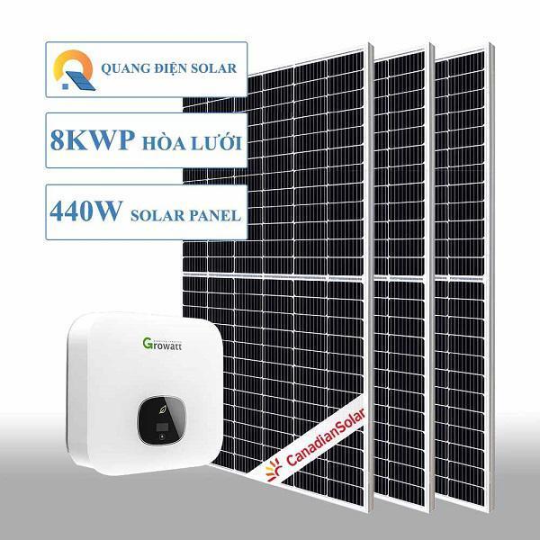 Hệ thống điện năng lượng mặt trười 8 kw hoà lưới
