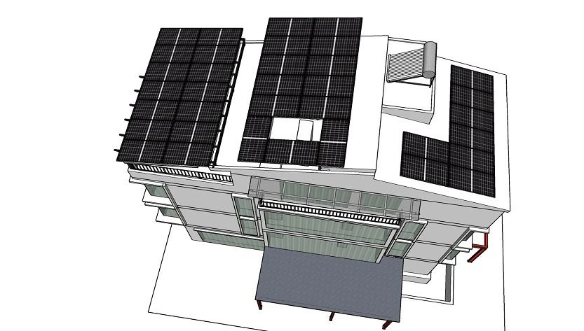 Lắp điện mặt trời chống nóng làm mát mái nhà tại Hải Dương
