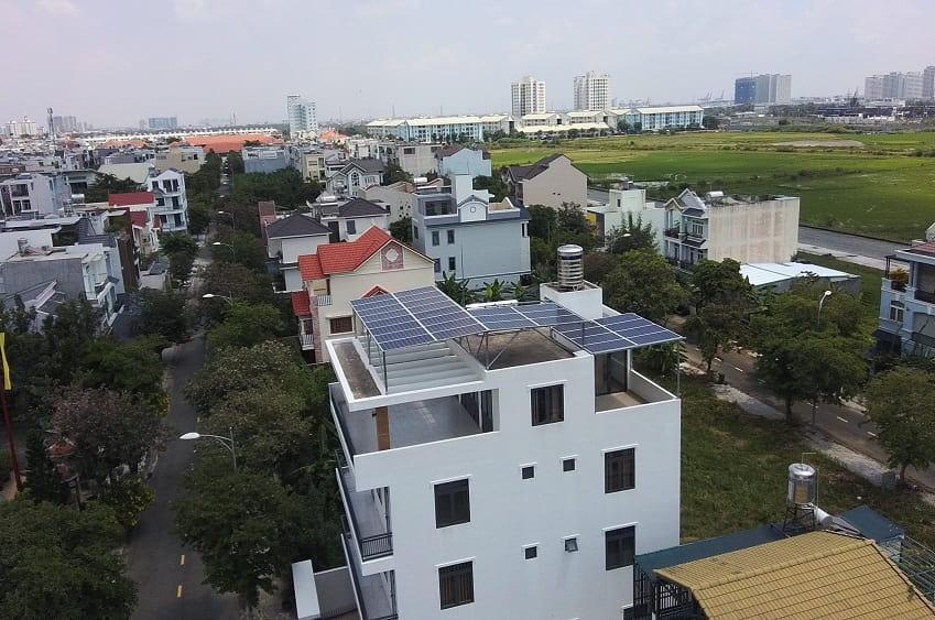 Lắp điện mặt trời tại quận Đống Đa