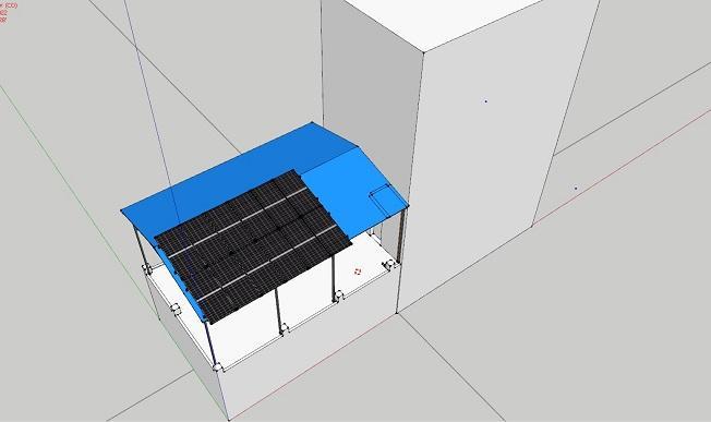 Mô phỏng lắp điện mặt trời tại Kiến Thuỵ Hải Phòng