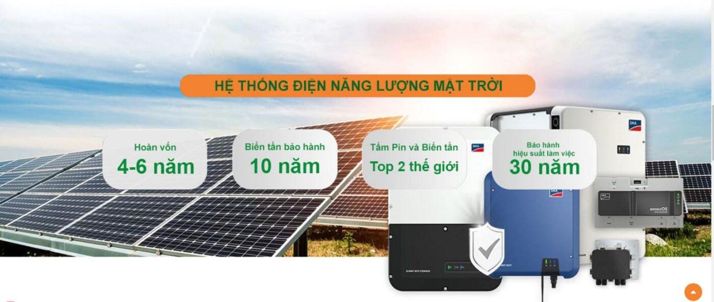 Lắp điện mặt trời tại Hoàng Mai