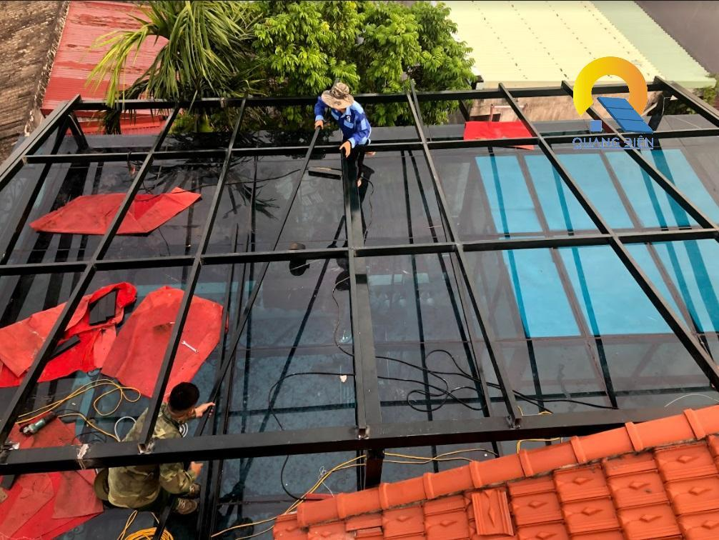 Lắp điện mặt trời hybird tại Hải Phòng phần dàn khung inox