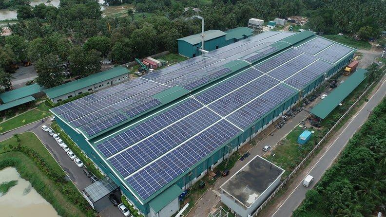 Lắp điện mặt trời áp mái nhà xưởng doanh nghiệp