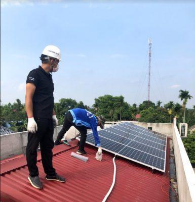 Lắp điện mặt trời cho dàn trâu đào bitcoin tại Hải Phòng