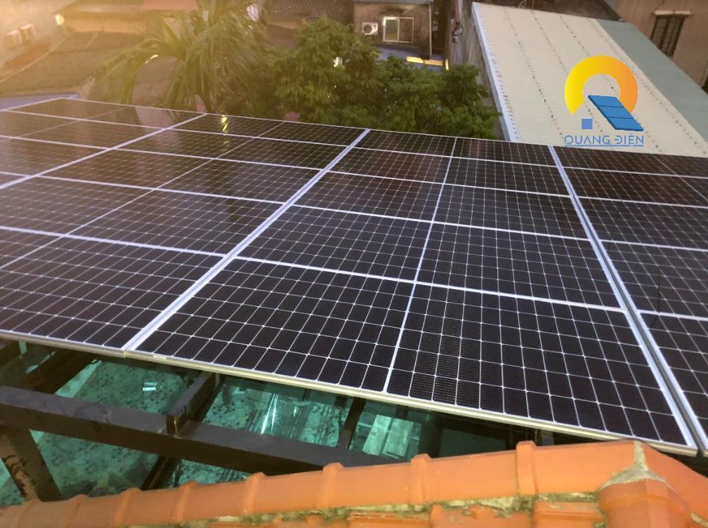 Hoàn thành Lắp điện mặt trời hybird tại Hải Phòng phần lắp tấm pin