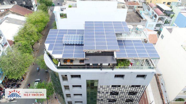 Lắp điện mặt trời trên quán cà phê tại Tây Hồ Hà Nội