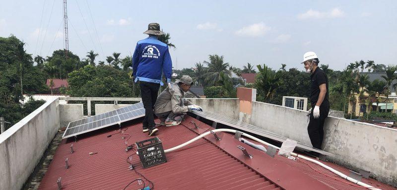 thi công lắp điện mặt trời tại thái bình